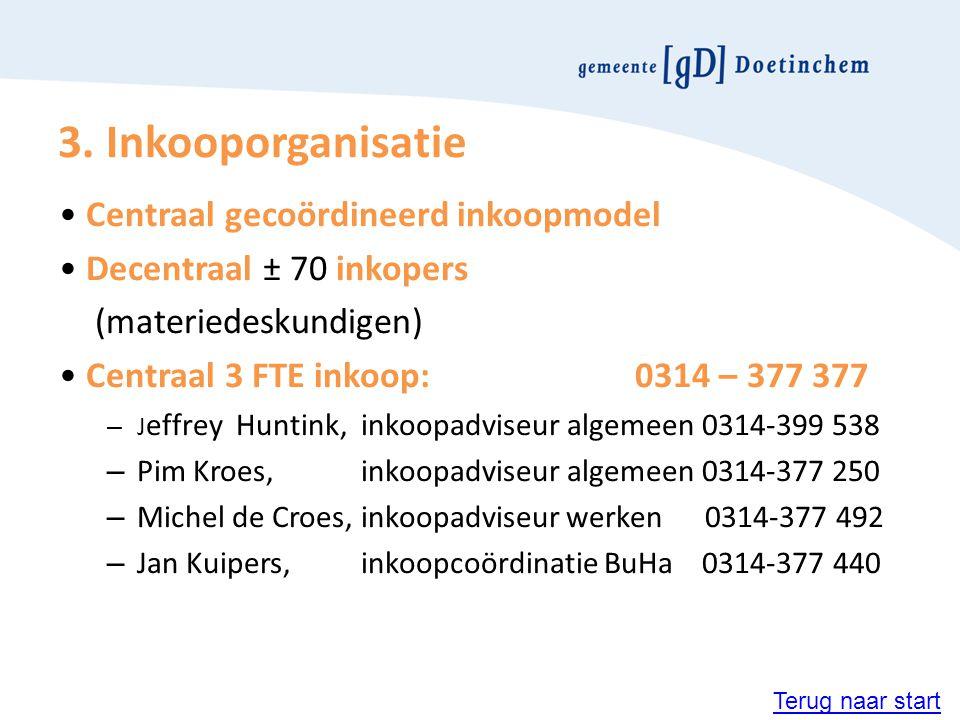3. Inkooporganisatie • Centraal gecoördineerd inkoopmodel