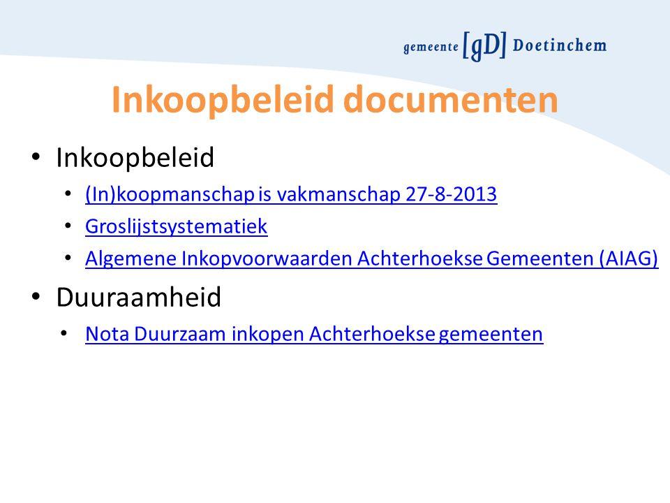 Inkoopbeleid documenten
