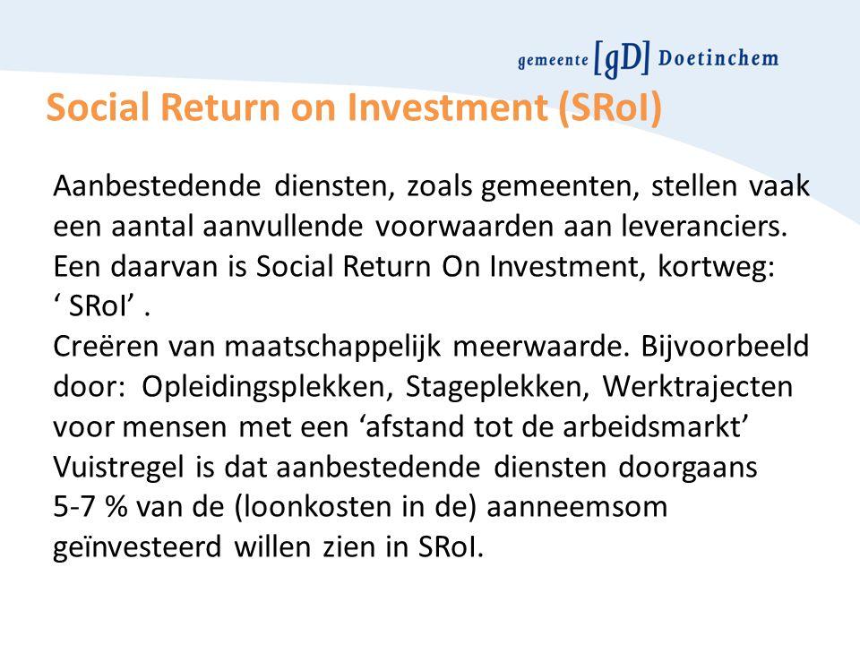 Social Return on Investment (SRoI)
