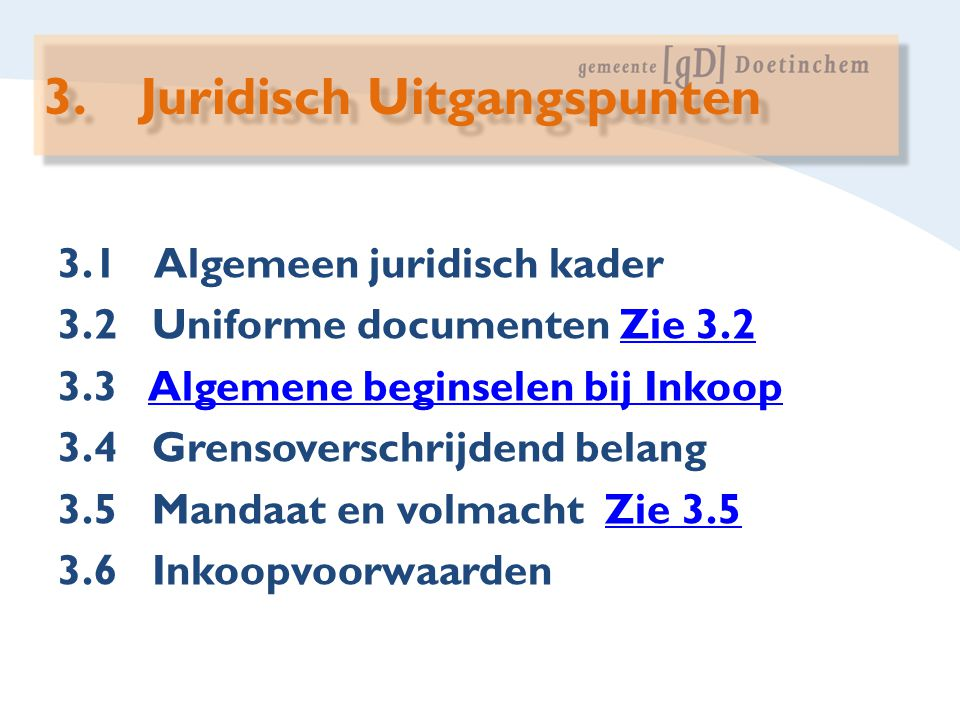 3. Juridisch Uitgangspunten