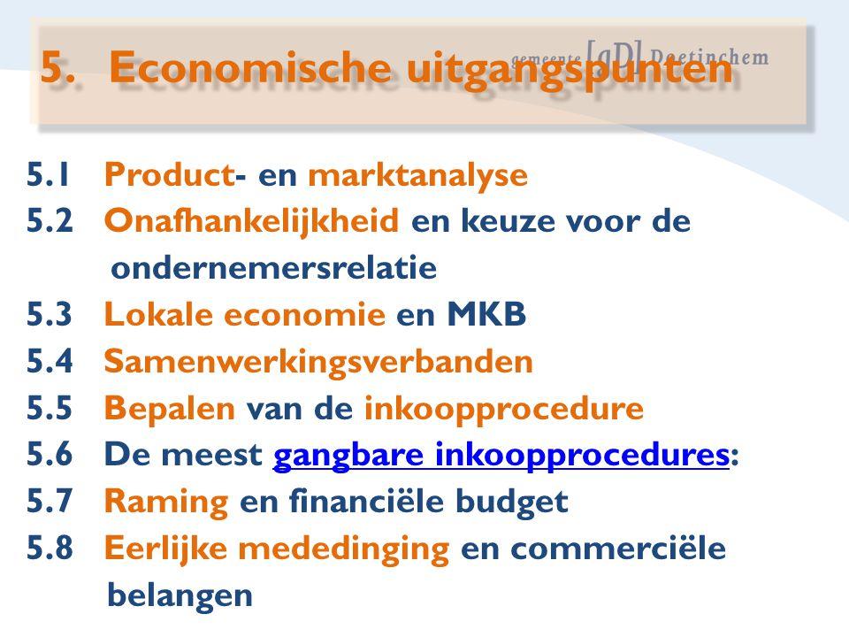 Economische uitgangspunten
