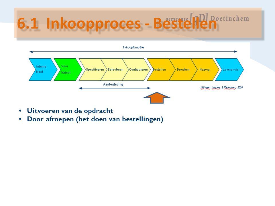 6.1 Inkoopproces - Bestellen