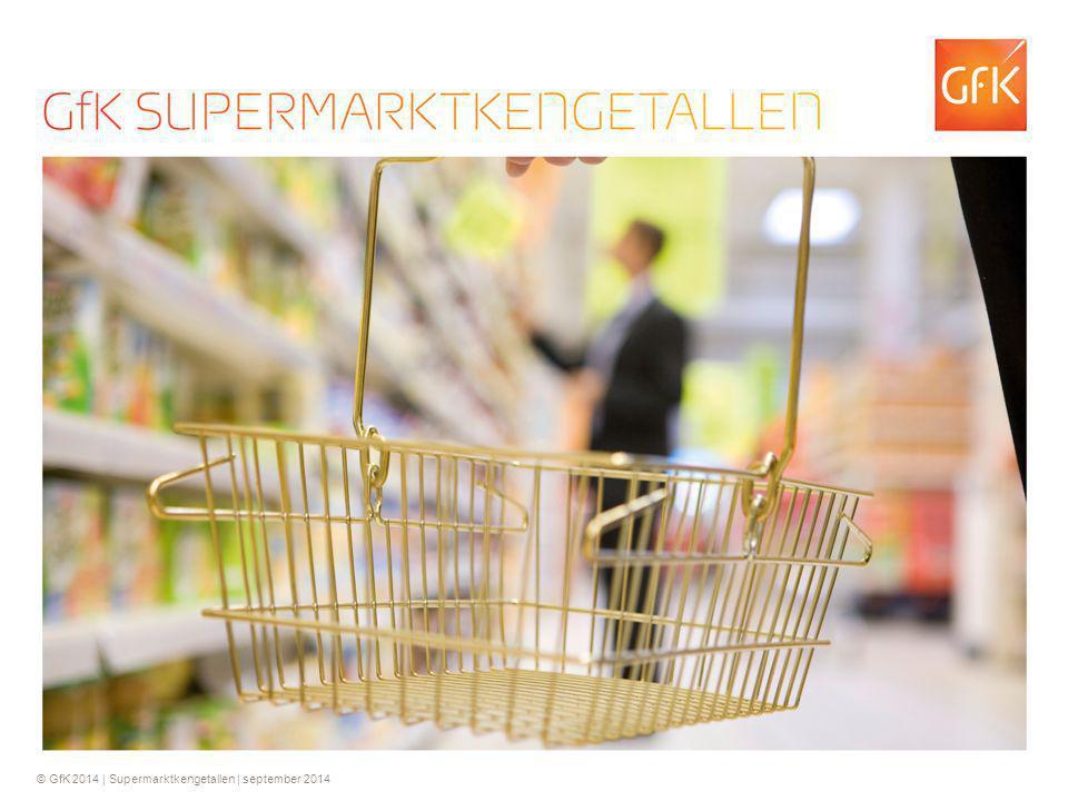 © GfK 2014 | Supermarktkengetallen | september 2014