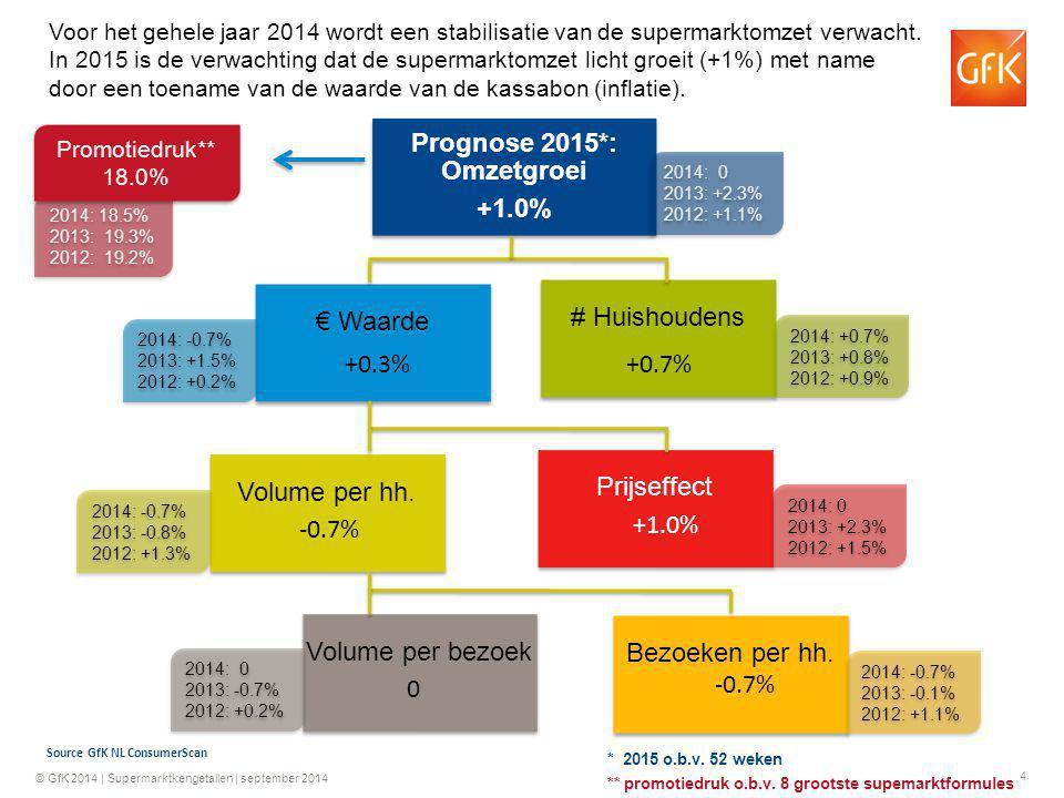 Prognose 2015*: Omzetgroei