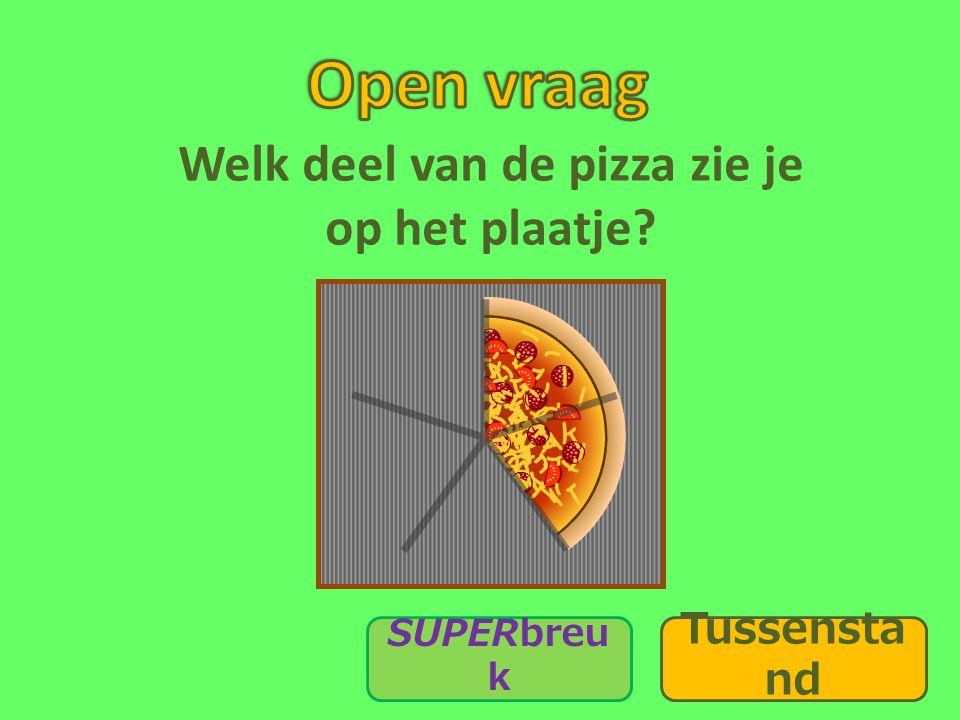Welk deel van de pizza zie je op het plaatje