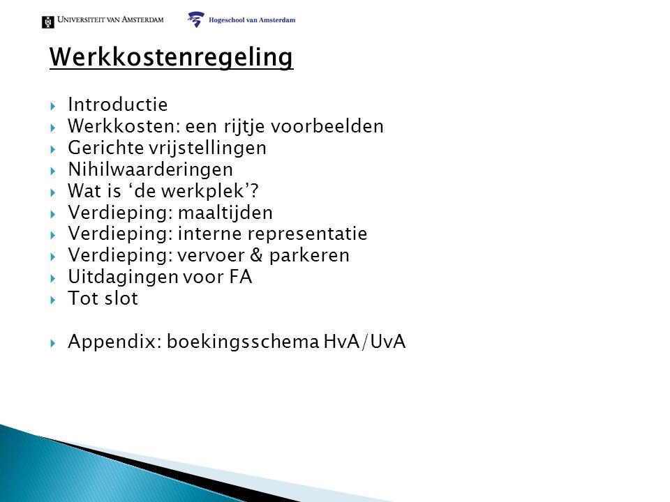 Werkkostenregeling Introductie Werkkosten: een rijtje voorbeelden