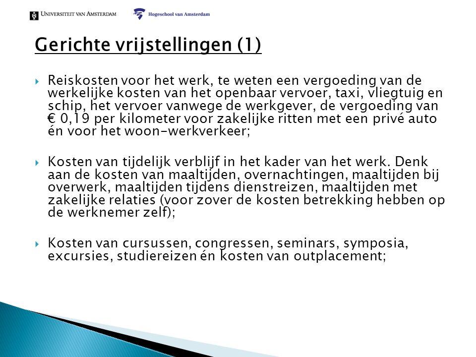 Gerichte vrijstellingen (1)
