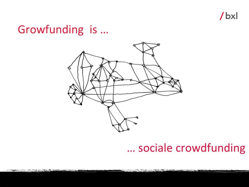 Growfunding is … … sociale crowdfunding