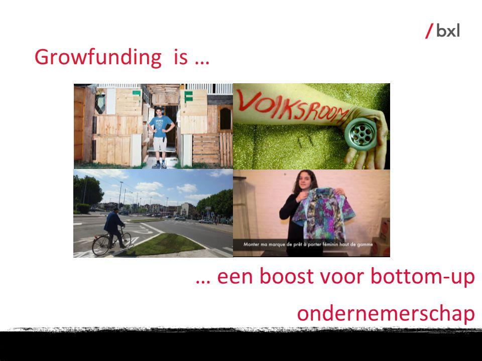 Growfunding is … … een boost voor bottom-up ondernemerschap