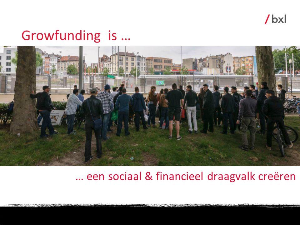 Growfunding is … … een sociaal & financieel draagvalk creëren