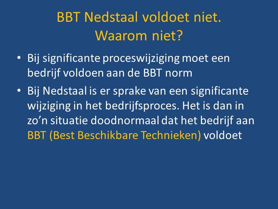 BBT Nedstaal voldoet niet. Waarom niet
