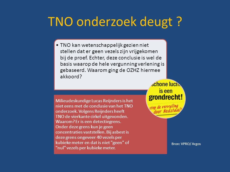 TNO onderzoek deugt