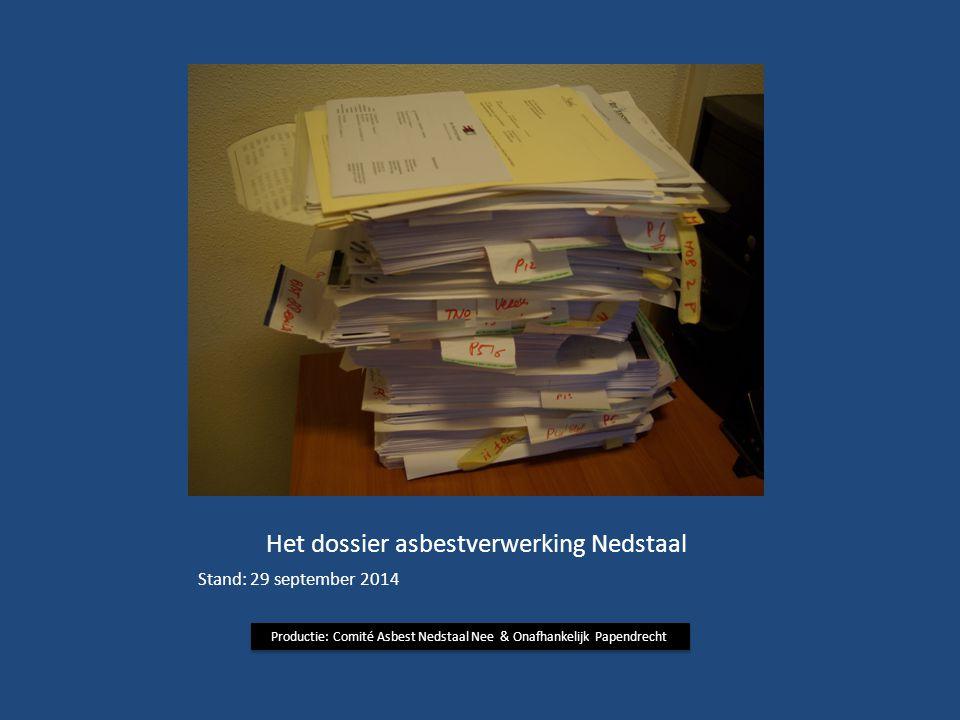Het dossier asbestverwerking Nedstaal
