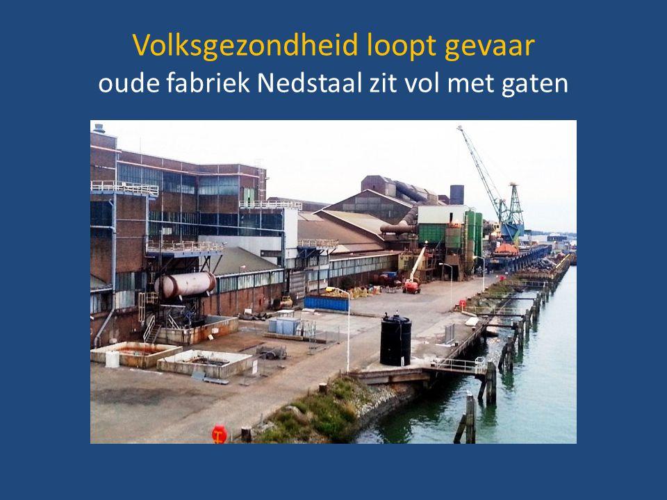 Volksgezondheid loopt gevaar oude fabriek Nedstaal zit vol met gaten