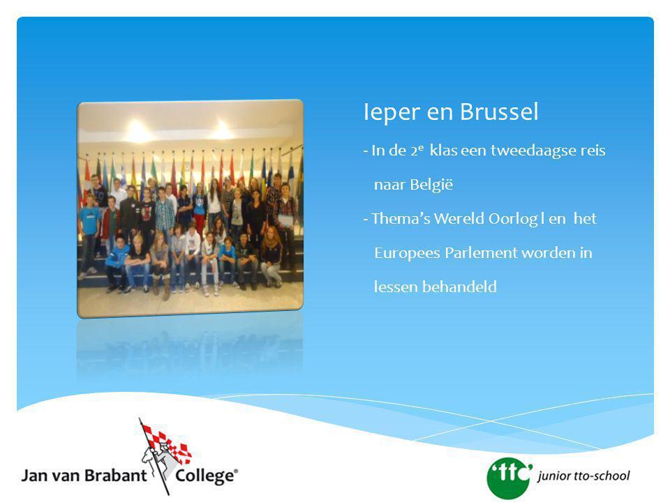 Ieper en Brussel - In de 2e klas een tweedaagse reis naar België