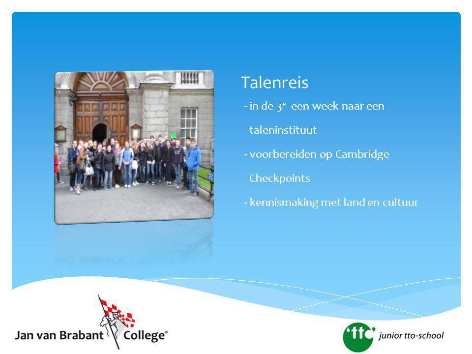 Talenreis - in de 3e een week naar een taleninstituut