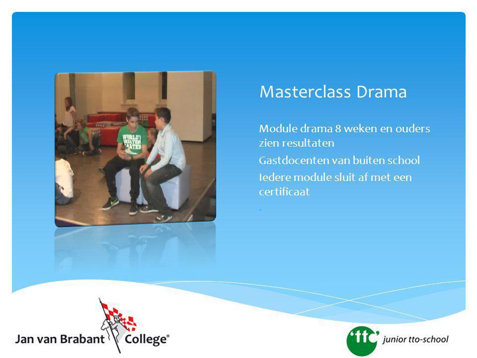 Masterclass Drama Module drama 8 weken en ouders zien resultaten