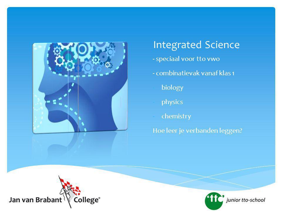 Integrated Science - speciaal voor tto vwo
