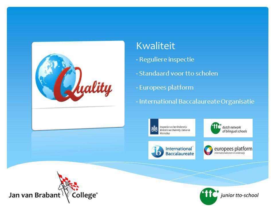 Kwaliteit - Reguliere inspectie - Standaard voor tto scholen