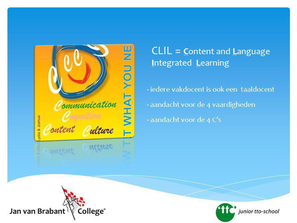 CLIL = Content and Language Integrated Learning
