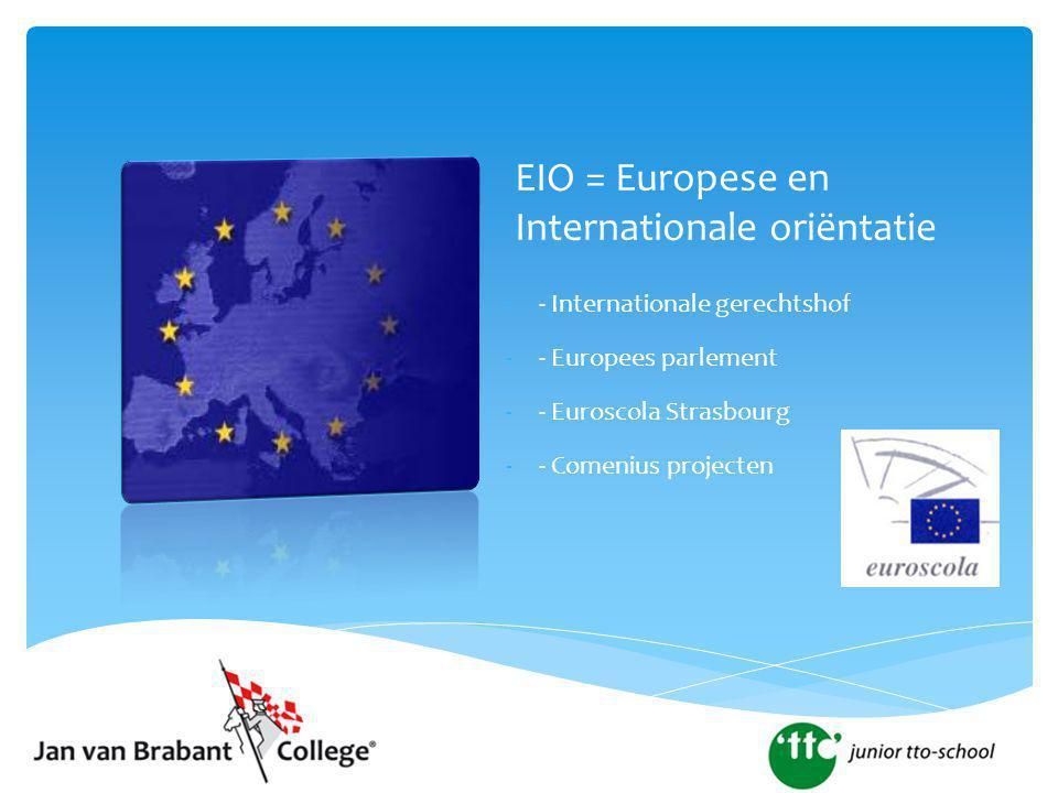 EIO = Europese en Internationale oriëntatie