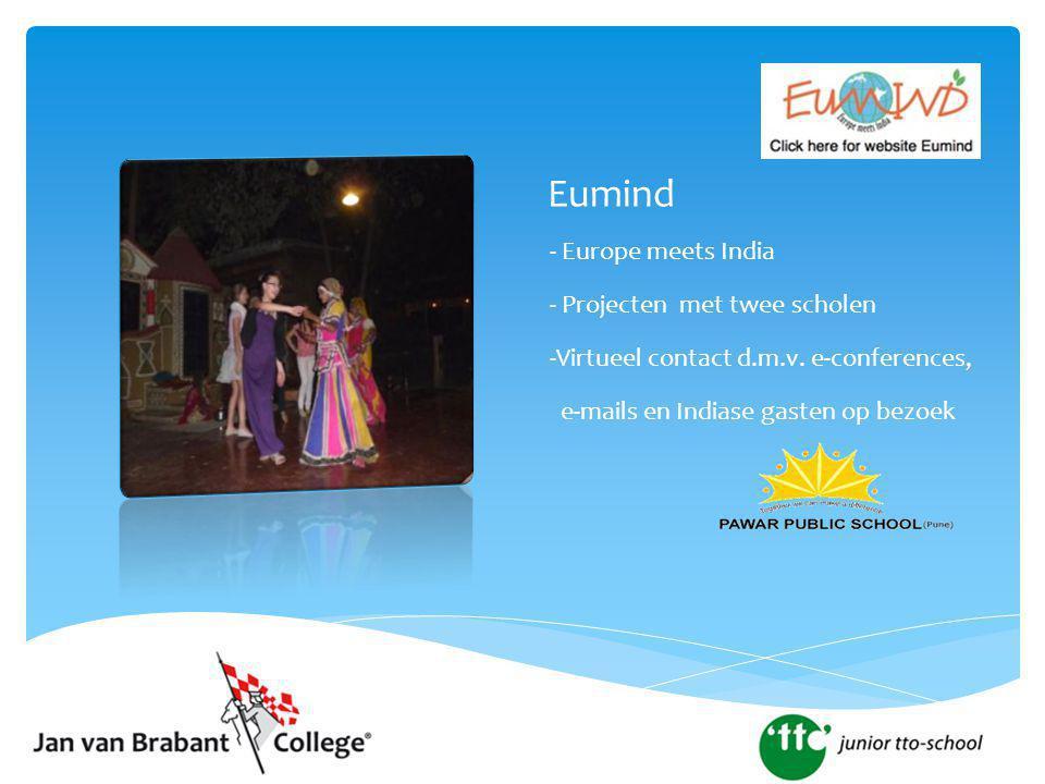 Eumind - Europe meets India - Projecten met twee scholen