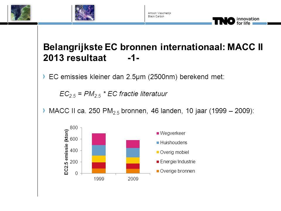 Belangrijkste EC bronnen internationaal: MACC II 2013 resultaat -1-