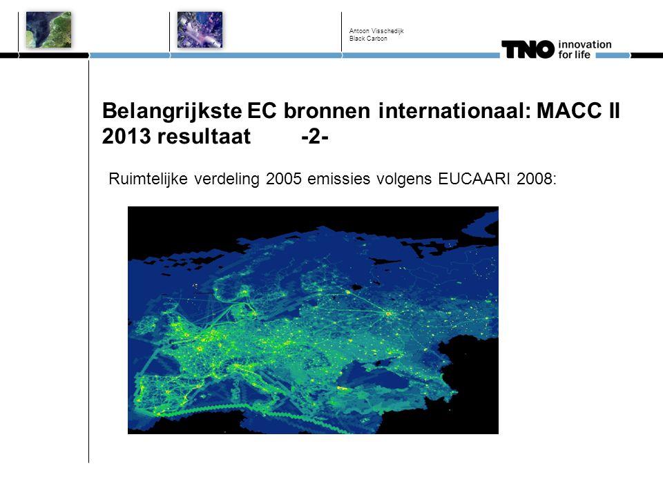 Belangrijkste EC bronnen internationaal: MACC II 2013 resultaat -2-