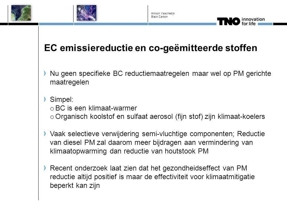 EC emissiereductie en co-geëmitteerde stoffen