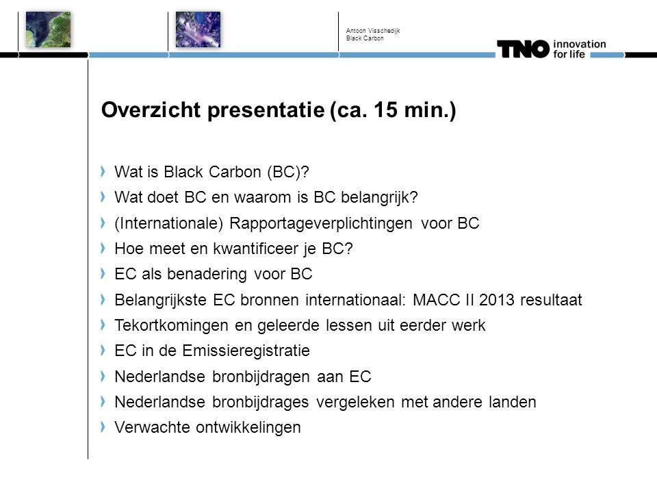 Overzicht presentatie (ca. 15 min.)