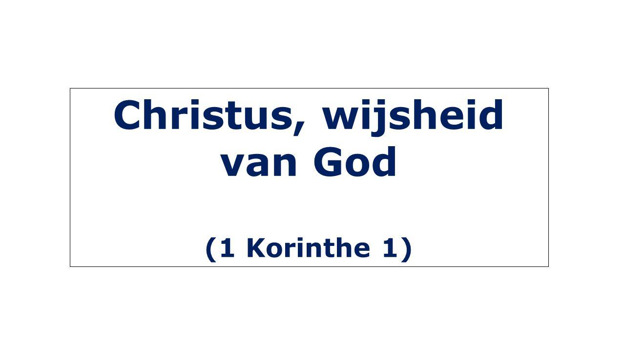 Christus, wijsheid van God