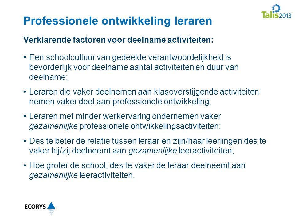 Professionele ontwikkeling leraren
