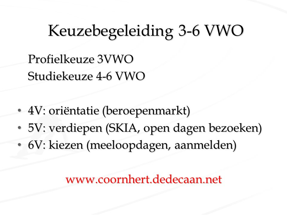 Keuzebegeleiding 3-6 VWO