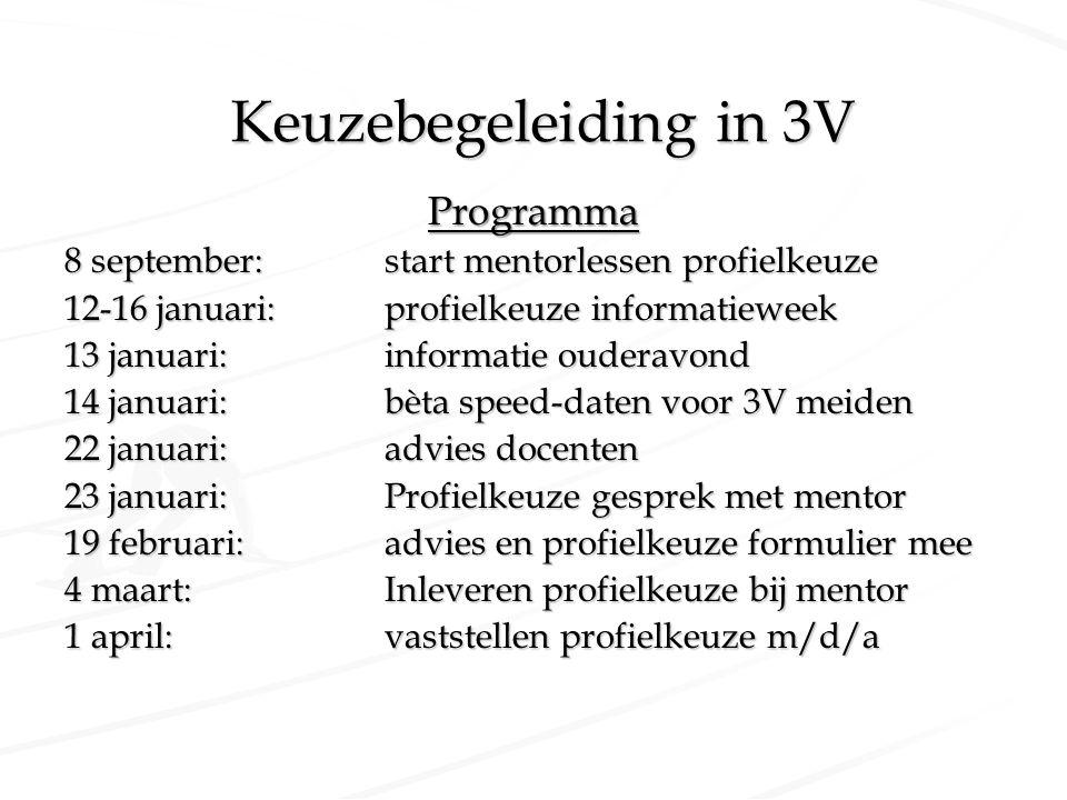 Keuzebegeleiding in 3V Programma