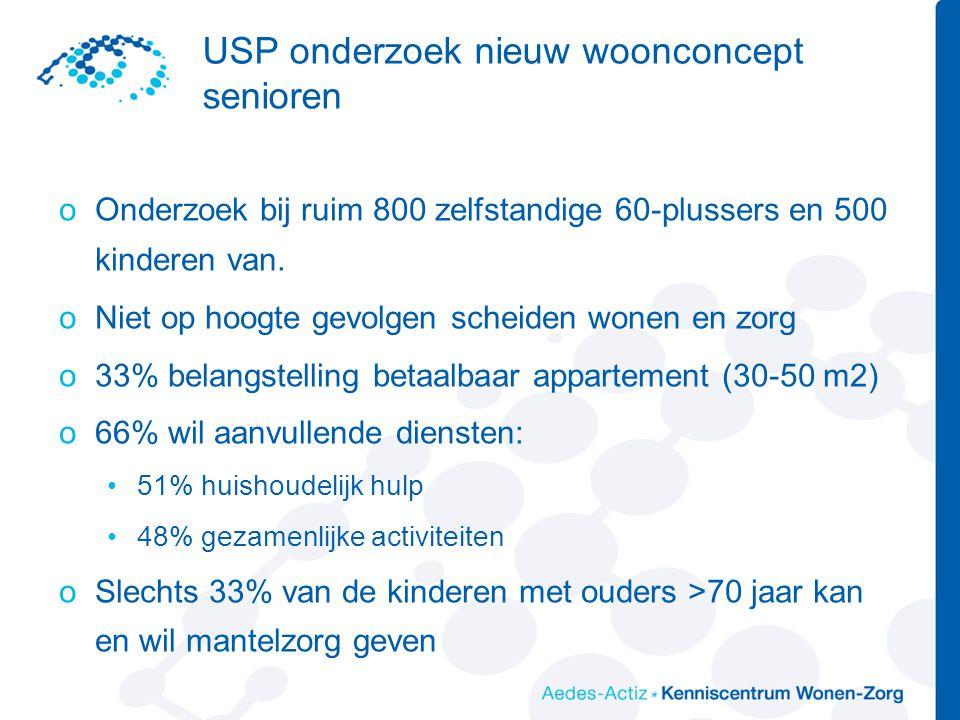 USP onderzoek nieuw woonconcept senioren