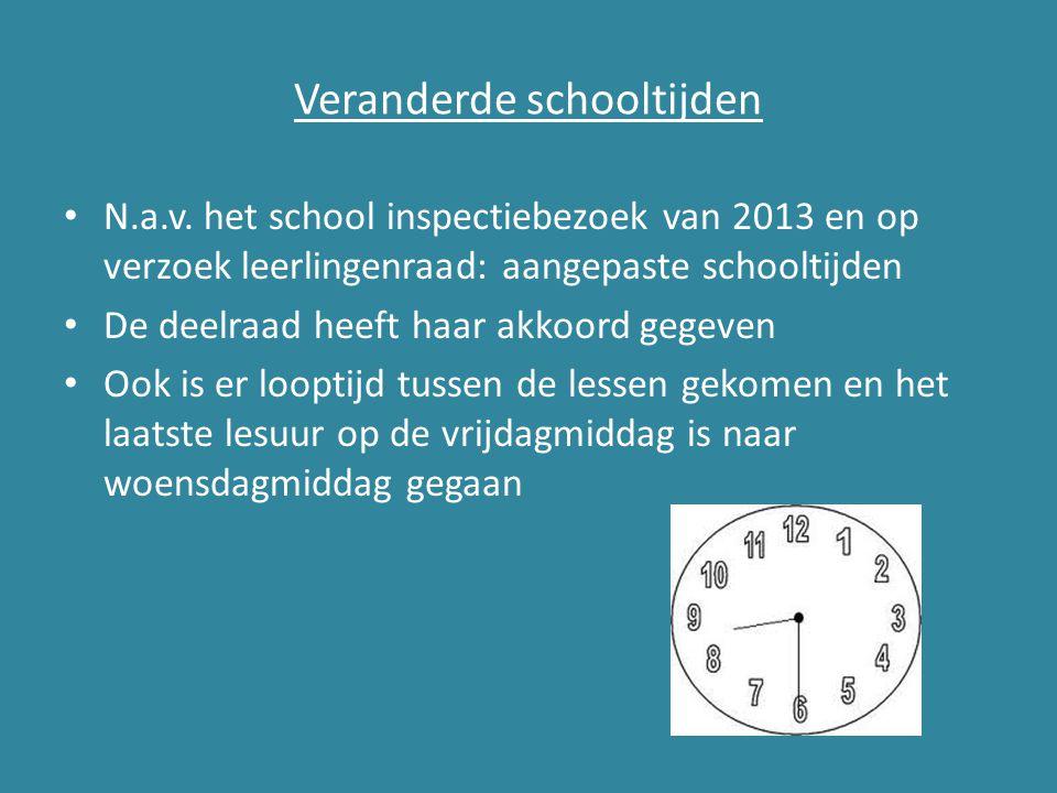 Veranderde schooltijden