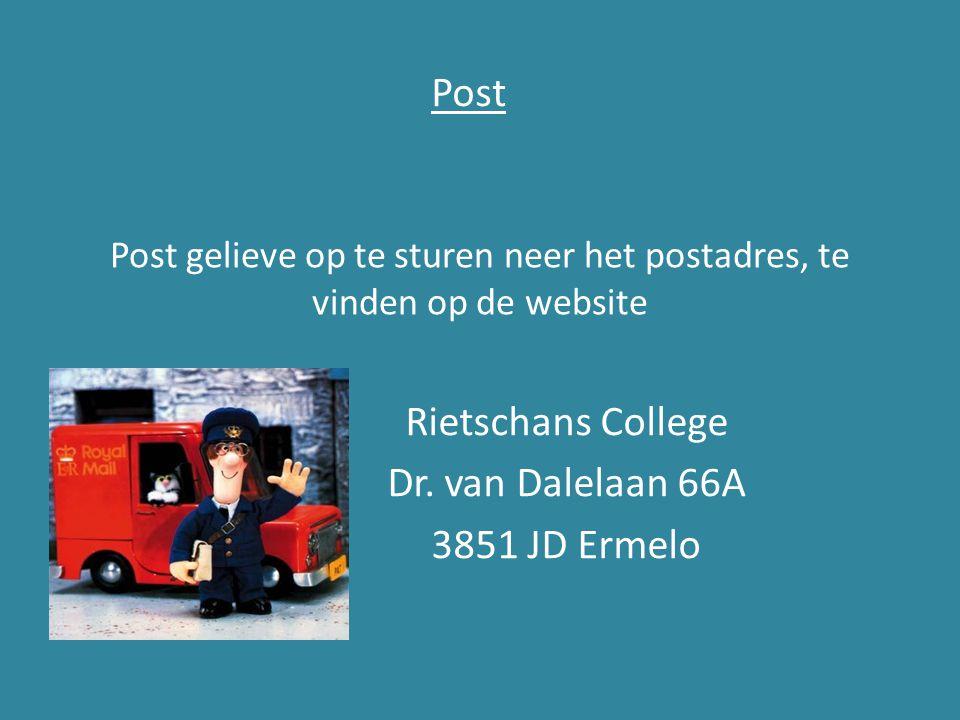 Post gelieve op te sturen neer het postadres, te vinden op de website