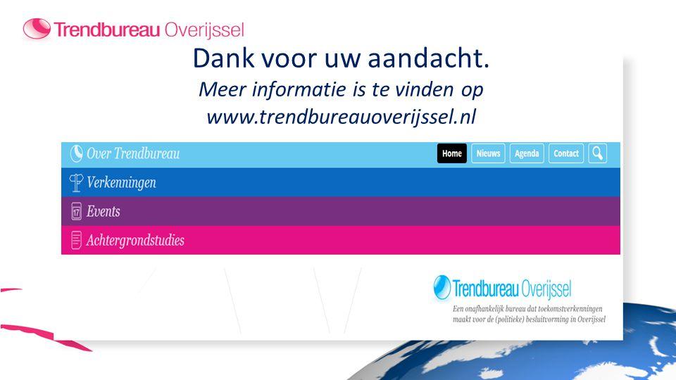 Meer informatie is te vinden op www.trendbureauoverijssel.nl