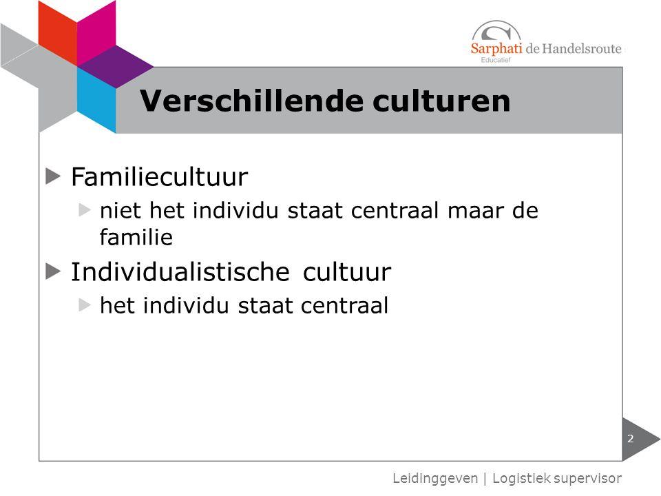 Verschillende culturen