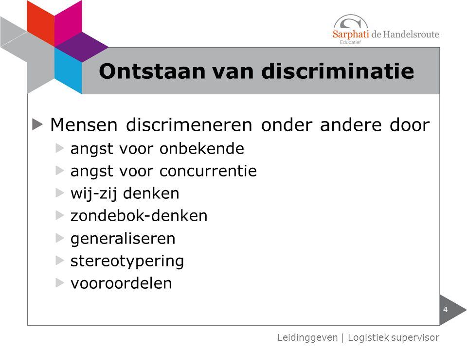 Ontstaan van discriminatie