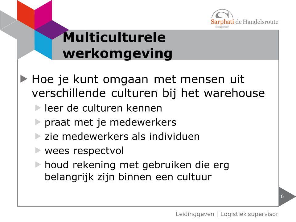 Multiculturele werkomgeving