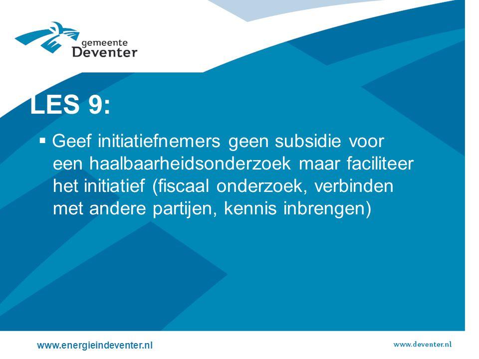 LES 9: