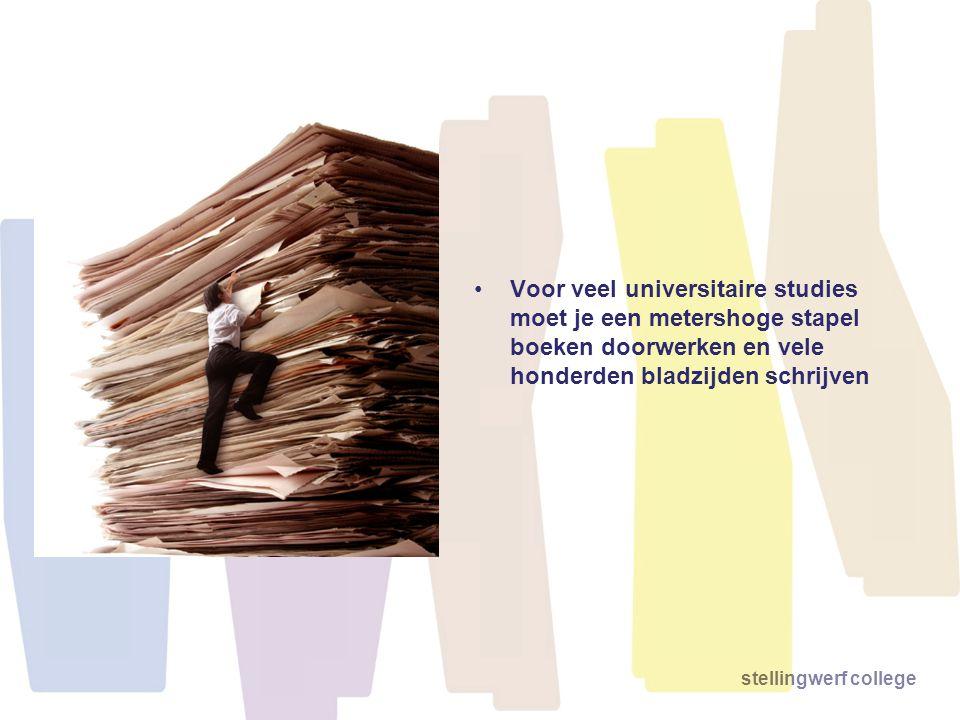 Voor veel universitaire studies moet je een metershoge stapel boeken doorwerken en vele honderden bladzijden schrijven