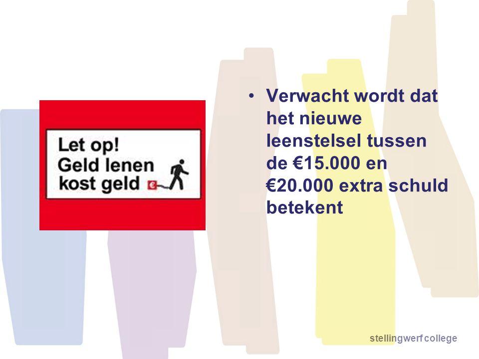 Verwacht wordt dat het nieuwe leenstelsel tussen de €15. 000 en €20