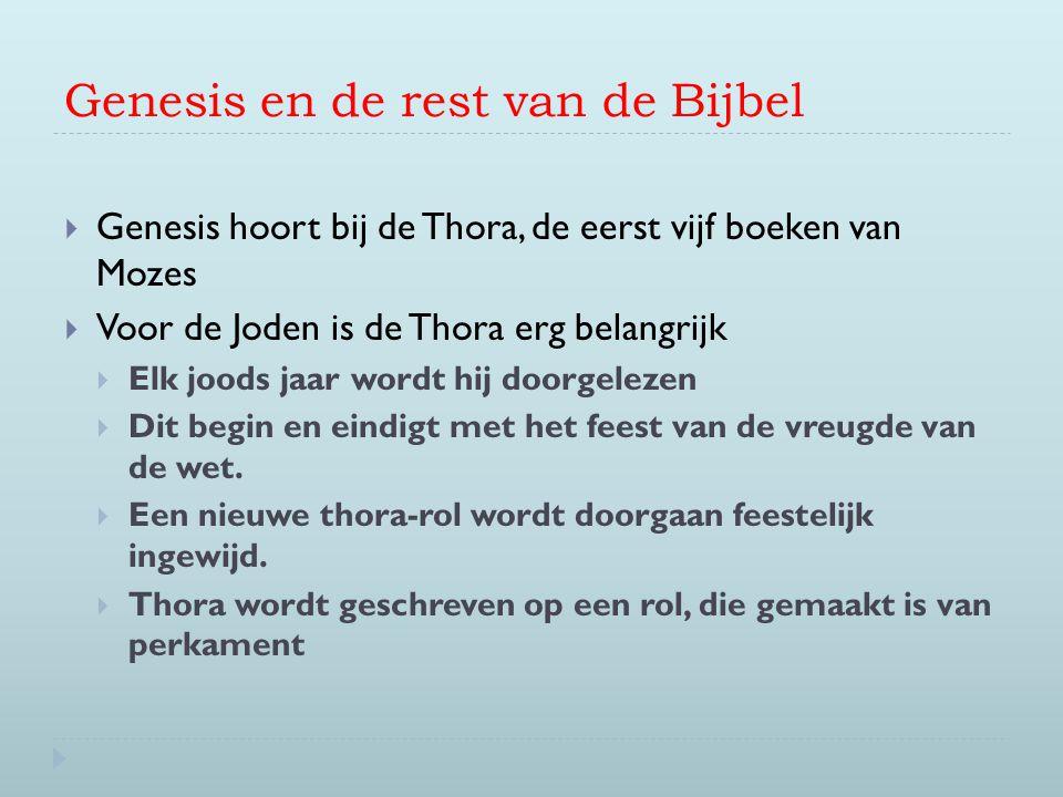 Genesis en de rest van de Bijbel