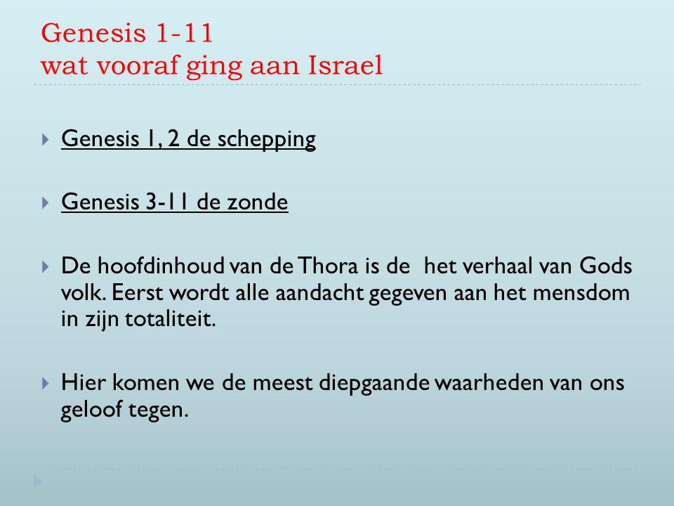 Genesis 1-11 wat vooraf ging aan Israel