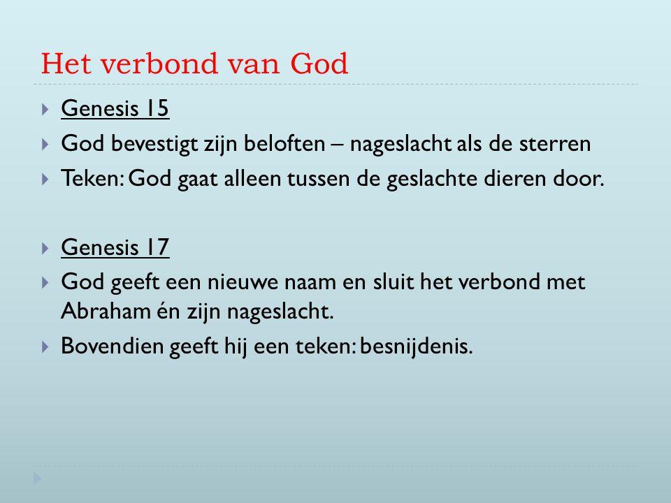 Het verbond van God Genesis 15