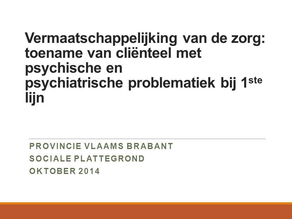 Provincie Vlaams Brabant Sociale Plattegrond Oktober 2014