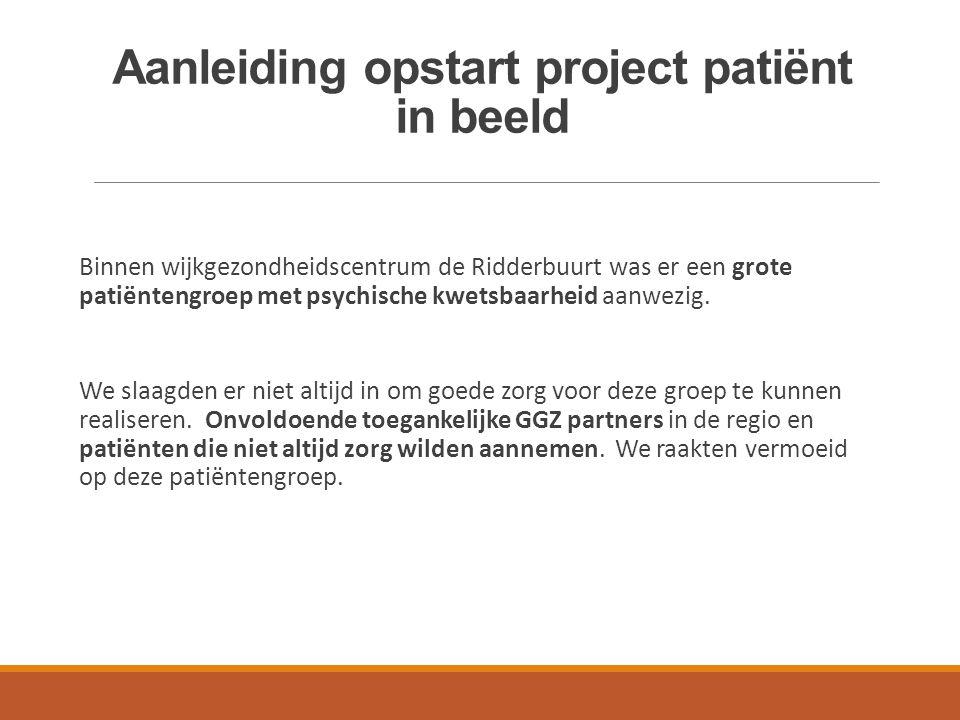 Aanleiding opstart project patiënt in beeld