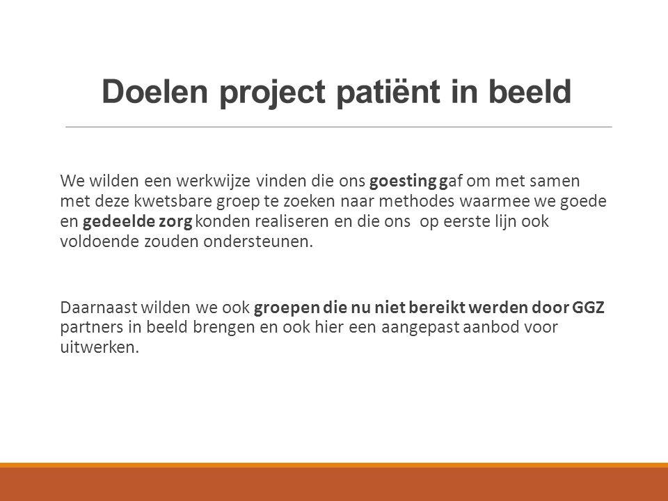 Doelen project patiënt in beeld